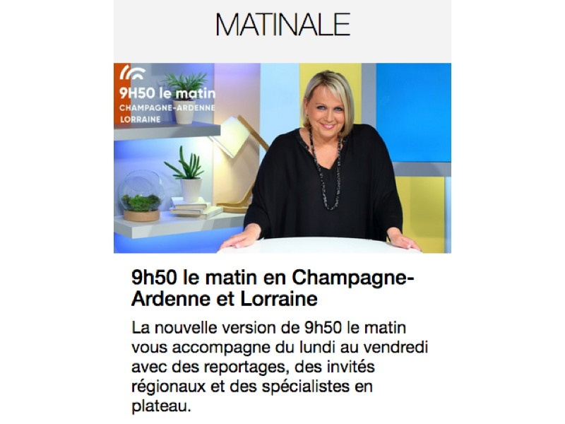 France 3 Champagne-Ardennes chez Faber